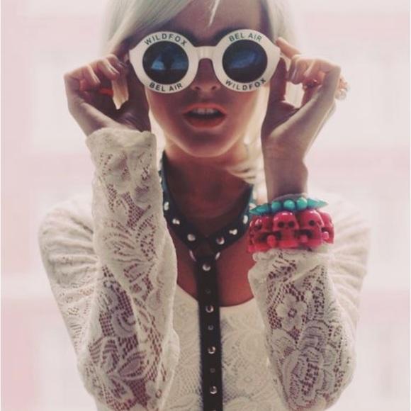 8098731f36 Wildfox Accessories | Couture Twiggy White Sunglasses | Poshmark
